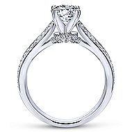 Saoirse 14k White Gold Round Split Shank Engagement Ring angle 2