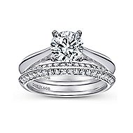 Sasha 14k White Gold Round Solitaire Engagement Ring angle 4