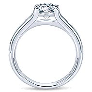 Selah 14k White Gold Round Solitaire Engagement Ring angle 2