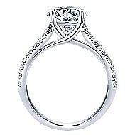 Selma 18k White Gold Round Split Shank Engagement Ring angle 2