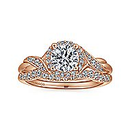 Shae 14k Rose Gold Round Halo Engagement Ring