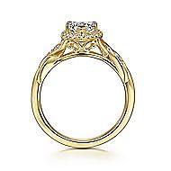Shae 14k Yellow Gold Pear Shape Halo Engagement Ring angle 2