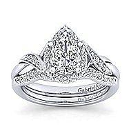 Shae Platinum Pear Shape Halo Engagement Ring angle 4
