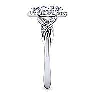 Shae Platinum Pear Shape Halo Engagement Ring angle 5