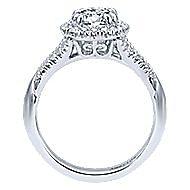 Shimmer 18k White Gold Round Halo Engagement Ring angle 2