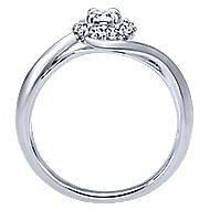 Shine 14k White Gold Round Halo Engagement Ring angle 2