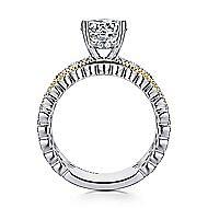 Shoshanna 18k Yellow And White Gold Round Straight Engagement Ring angle 2