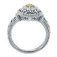 Silver-18K Yellow Gold Diamond Ladies' Ring