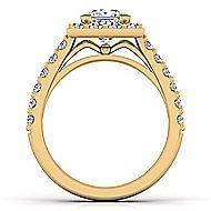 Skylar 14k Yellow Gold Princess Cut Halo Engagement Ring angle 2