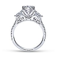Sookie 14k White Gold Oval 3 Stones Engagement Ring angle 2