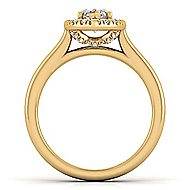 Stacy 14k Yellow Gold Marquise  Halo Engagement Ring angle 2