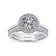 Stacy Platinum Round Halo Engagement Ring angle 4