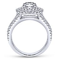 Starla 14k White Gold Round Double Halo Engagement Ring angle 2