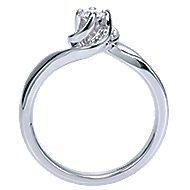 Swoon 14k White Gold Round Bypass Engagement Ring angle 2