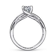 Tanya 14k White Gold Princess Cut Solitaire Engagement Ring