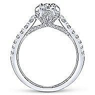 Tara 14k White Gold Round Straight Engagement Ring angle 2