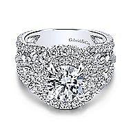 Tarantana 18k White Gold Round Double Halo Engagement Ring angle 1