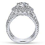 Tarantana 18k White Gold Round Double Halo Engagement Ring angle 2