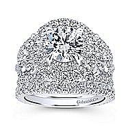 Tarantana 18k White Gold Round Double Halo Engagement Ring angle 4
