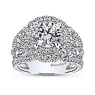 Tarantana 18k White Gold Round Double Halo Engagement Ring angle 5