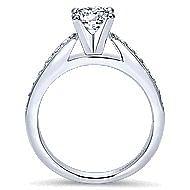 Tess 14k White Gold Round Straight Engagement Ring angle 2