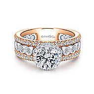 Tessa 18k White And Rose Gold Round Straight Engagement Ring angle 1