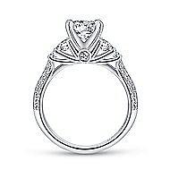 Thandie 14k White Gold Round 3 Stones Engagement Ring angle 2
