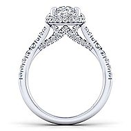 Thyme 14k White Gold Oval Double Halo Engagement Ring angle 2