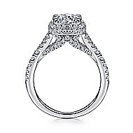 Thyme 14k White Gold Round Double Halo Engagement Ring angle 2