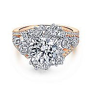 Tinsley 18k White And Rose Gold Round Split Shank Engagement Ring angle 1