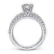 Titania 14k White Gold Round Split Shank Engagement Ring angle 2
