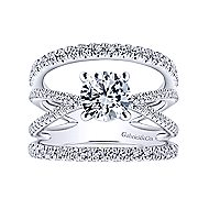 Titania 14k White Gold Round Split Shank Engagement Ring angle 5