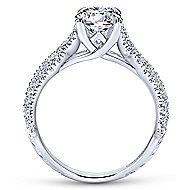Tristan 14k White Gold Round Twisted Engagement Ring angle 2