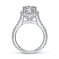 Tyra 14k White Gold Round Halo Engagement Ring angle 2