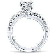 Umbra 14k White Gold Round Bypass Engagement Ring angle 2