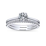 Valerie 14k White Gold Round Solitaire Engagement Ring angle 4