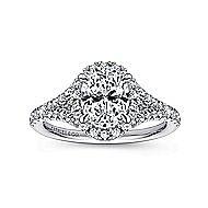 Verbena 14k White Gold Oval Halo Engagement Ring