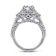 Verline 18k White Gold Round Halo Engagement Ring angle 2