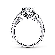 Veronique 14k White Gold Round Halo Engagement Ring