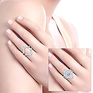 Vintage 14k White Gold Diamond Enhancer