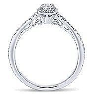 Virea 14k White Gold Princess Cut Halo Engagement Ring angle 2