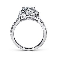 Wendy 18k White Gold Round Halo Engagement Ring angle 2