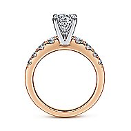 Wyatt 14k White And Rose Gold Round Straight Engagement Ring angle 2