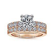 Wyatt 14k White And Rose Gold Round Straight Engagement Ring angle 4
